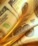 Silky smooth and glowing money abstract Stock Photography