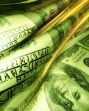 Silky smooth and glowing money abstract Royalty Free Stock Image