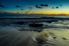 Silky smoth ocean water long exposure royalty free stock photography