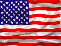 Silky Us flag royalty free stock photos