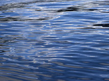 Silky Water reflecting the Blue Skies and White Clouds Royalty Free Stock Photo