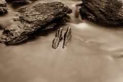 Silky water and stone Stock Photography