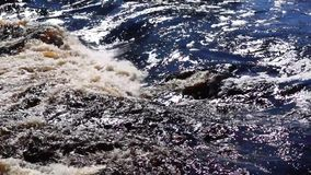 Silky water surface stock footage