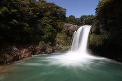 Silky Waterfall. Waterfall spills into pool below Royalty Free Stock Photo
