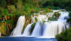 A silky waterfall Stock Photography