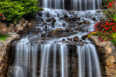 Silky Waterfall in High Dynamic Range Stock Images