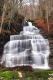 Silky waterfall inautumn Royalty Free Stock Image