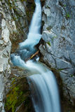Silky Waterfall, Mount Rainier National Park Stock Images