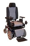 Sillón de ruedas eléctrico Foto de archivo libre de regalías