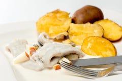 Sill med potatisar Royaltyfri Fotografi