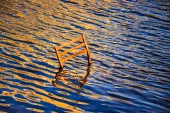 Silla abandonada Foto de archivo libre de regalías