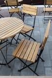 Silla al aire libre del restaurante Fotos de archivo