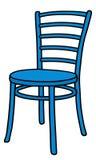 Silla azul ilustración del vector