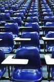 Silla azul de la conferencia Fotografía de archivo libre de regalías