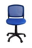Silla azul de la oficina Imagen de archivo libre de regalías