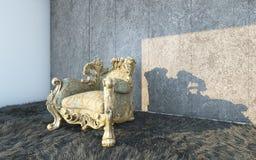 Silla clásica en una pared Textured Foto de archivo libre de regalías