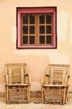 Silla de bambú Imagenes de archivo