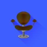 Silla de Brown Foto de archivo libre de regalías