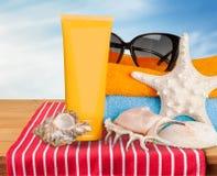 Silla de cubierta en la playa en Brighton Foto de archivo libre de regalías