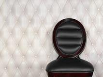 Silla de cuero negra Imagenes de archivo