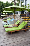 Silla de jardín en el hotel pattaya del rock duro Foto de archivo libre de regalías