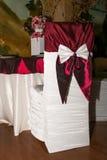 Silla de la boda con la cinta Imagen de archivo libre de regalías