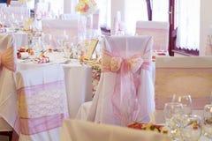 Silla de la boda con la cinta Imagenes de archivo
