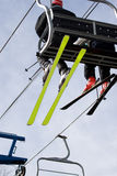 Silla de la elevación de esquí Imagenes de archivo