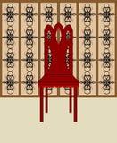 Silla de madera Imagen de archivo libre de regalías