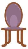 Silla de madera stock de ilustración
