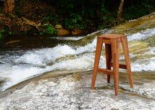 Silla de madera Foto de archivo libre de regalías