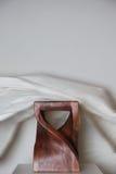 Silla de madera del diseño Fotografía de archivo