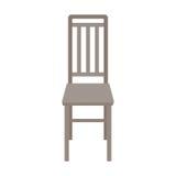 Silla de madera del vector aislada en el fondo blanco Imagen de archivo