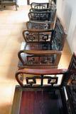 Silla de madera negra Fotografía de archivo libre de regalías