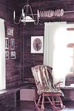Silla de oscilación antigua Foto de archivo libre de regalías