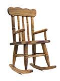 Silla de oscilación de madera Foto de archivo libre de regalías