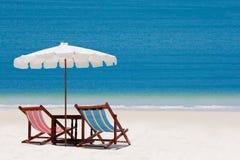 Silla de playa Imagenes de archivo