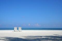 Silla de playa Fotografía de archivo libre de regalías
