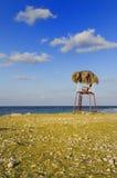 Silla de playa rústica imagen de archivo libre de regalías