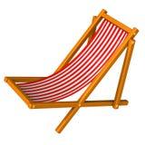 Silla de playa roja 3d Imágenes de archivo libres de regalías