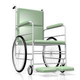 silla de ruedas 3D en el fondo blanco Fotografía de archivo libre de regalías