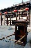 Silla de silla de manos china fotografía de archivo libre de regalías