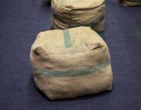Silla del saco de la arpillera Imágenes de archivo libres de regalías