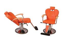 Silla del salón de belleza - naranja Imágenes de archivo libres de regalías