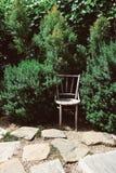 Silla en el jardín Fotografía de archivo libre de regalías