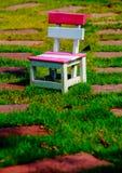 Silla en jardín Fotografía de archivo libre de regalías