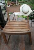 Silla en piso de madera Imagen de archivo libre de regalías