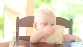 Silla gritadora del bebé del bebé almacen de video