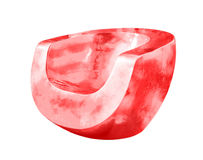 Silla hecha del plástico Foto de archivo libre de regalías