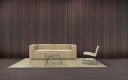 Silla mínima de la composición del estilo de la sala de estar Imagenes de archivo